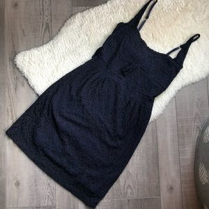 Free People Navy Black Lace Dress Stretchy M